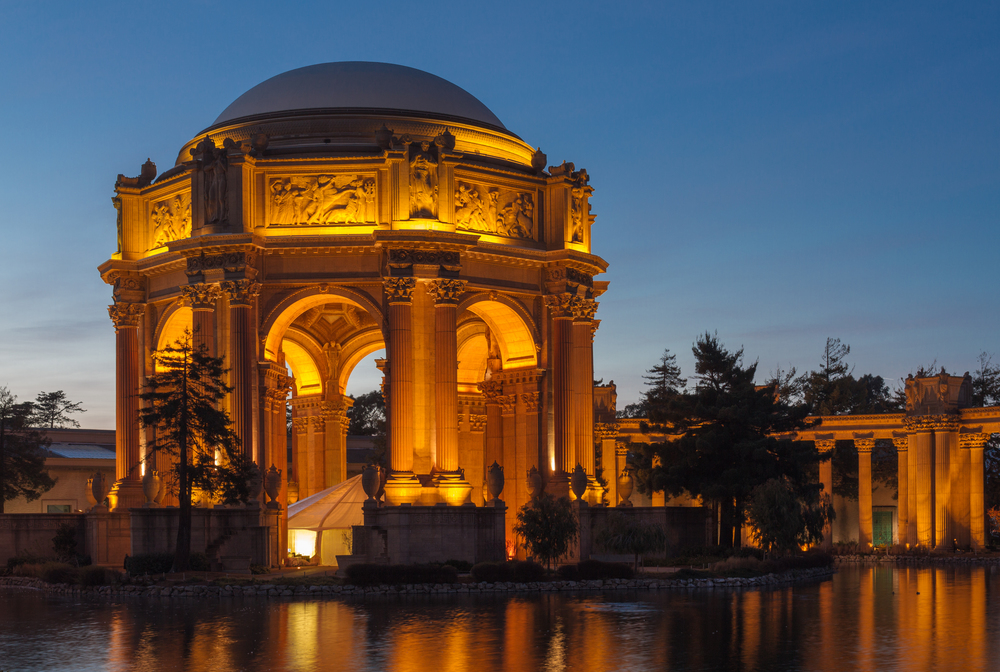 The Palace of Fine Arts is a remnant of the 1915 Panama Pacific International Exposition.