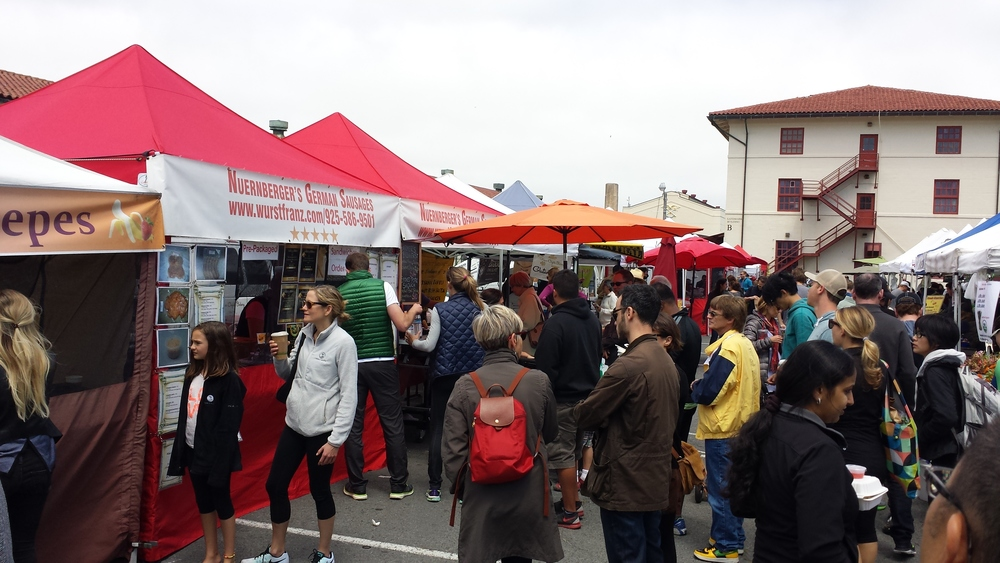 A weekend farmer's market at Fort Mason is popular with Marina residents.
