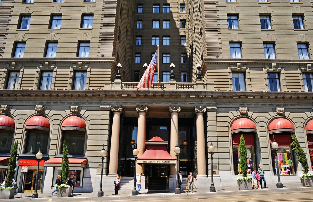 "The Westin St. Francis Hotel was built in 1904 by the trustees of the estate of Charles Crocker, one of the ""Big Four"" railroad magnates."