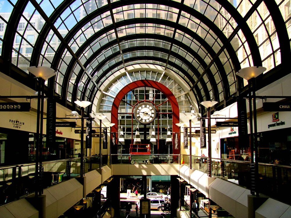 The Crocker Galleria is home to a couple of cozy rooftop parks, perfect for taking a lunch or coffee break.