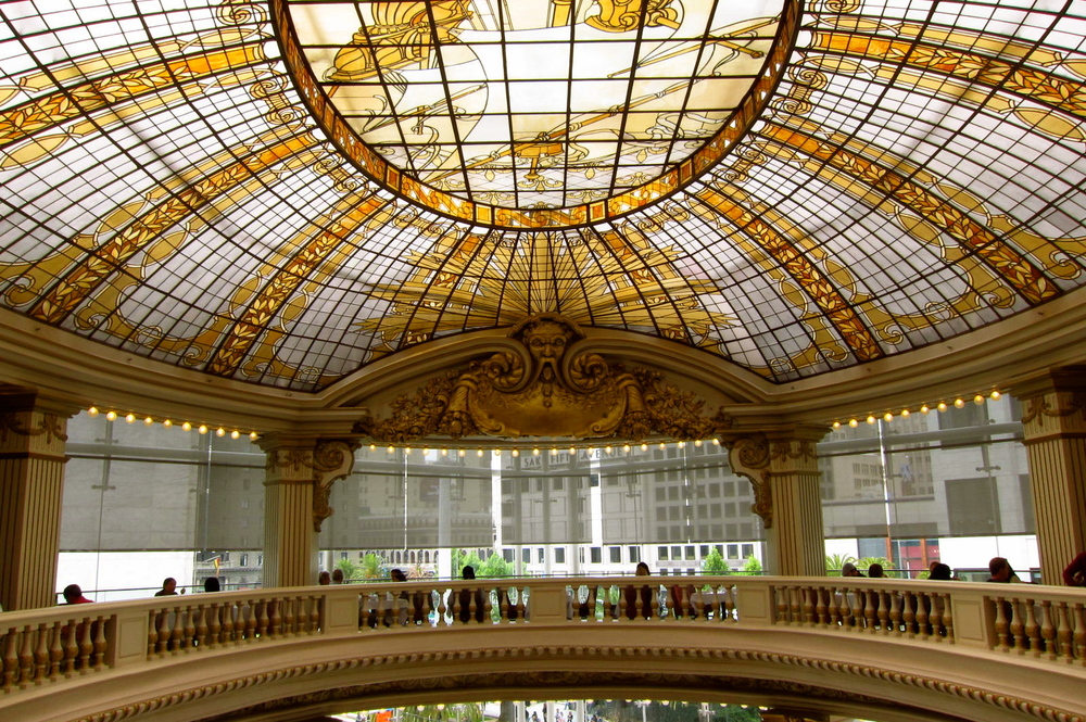 Neiman Marcus is famous for its stained-glass, domed ceiling.