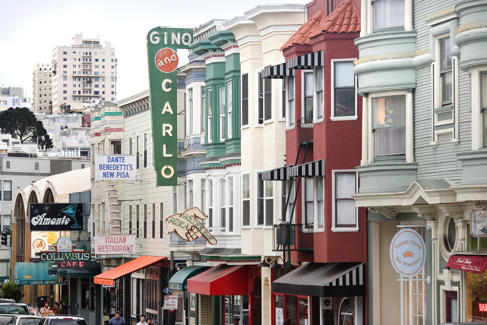 "San Francisco's version of ""Little Italy,"" North Beach is overflowing with Italian restaurants, coffee shops and markets."