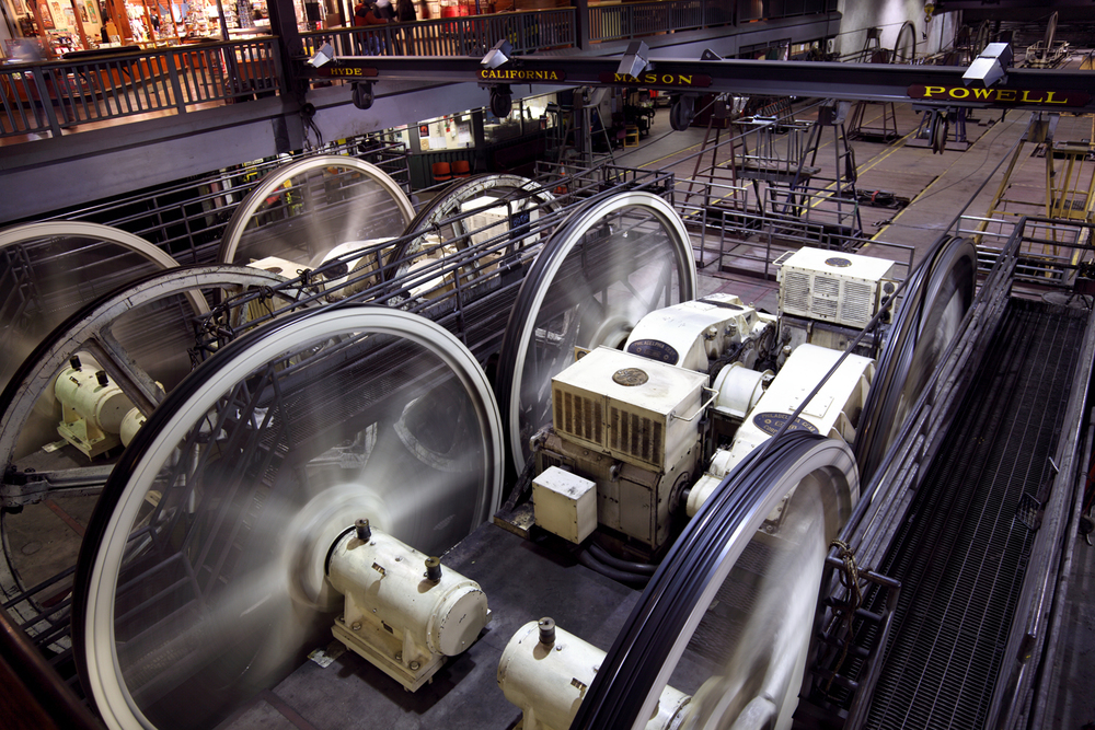 The Cable Car Museum is a free museum housed in the city's cable car barn and powerhouse.
