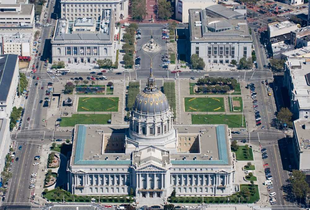 Civic Center Plaza is located in the heart of the city, and contains many of San Francisco's largest government and cultural organizations.