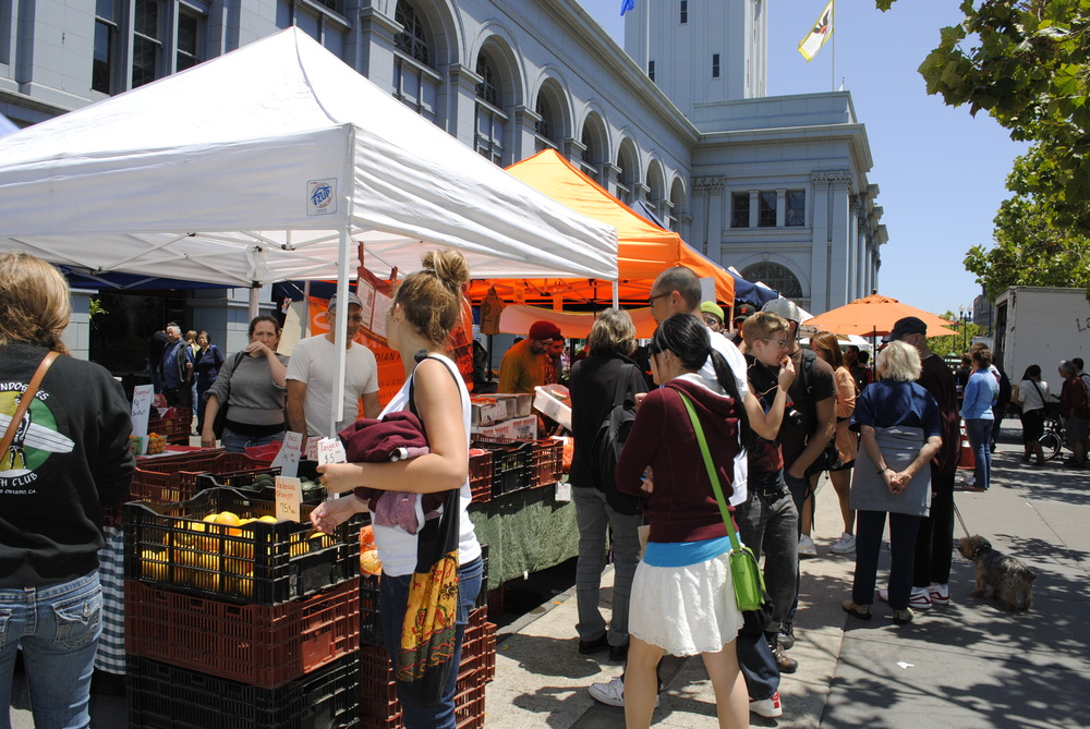 The Ferry Building Marketplace is home to dozens of artisanal food vendors and is the site of a popular farmer's market.