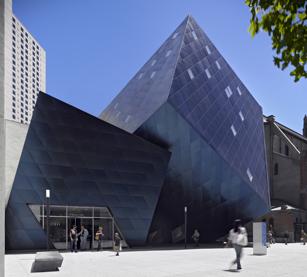 The Contemporary Jewish Museum is housed in a building designed by world-renowned architect Daniel Libeskind.