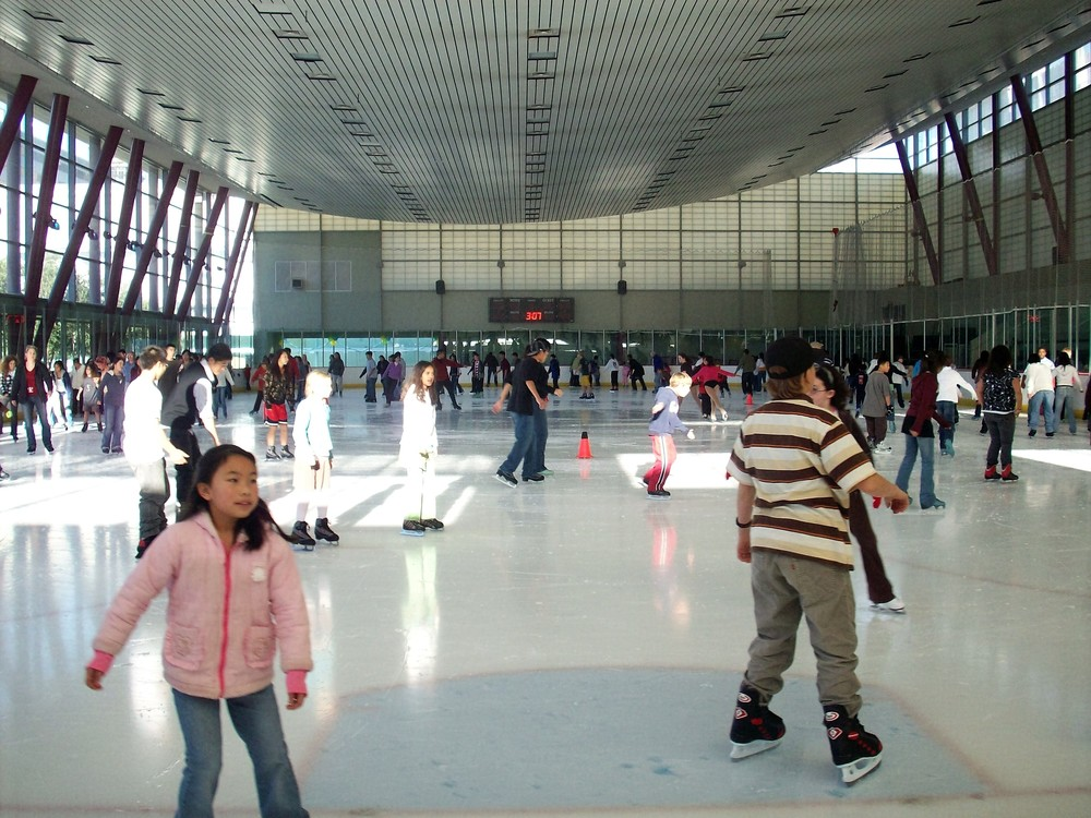 The Yerba Buena Ice Skating and Bowling Center is a great place to hit the lanes or the rink for some indoor fun.