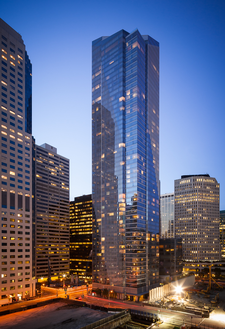 The Millennium Tower is a modern 58-story condominium skyscraper.