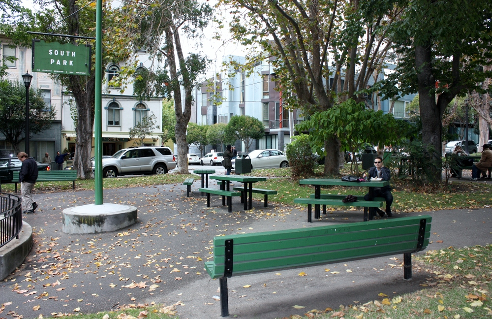 South Park was built as an upscale residential square and modeled after London's Berkeley Square.