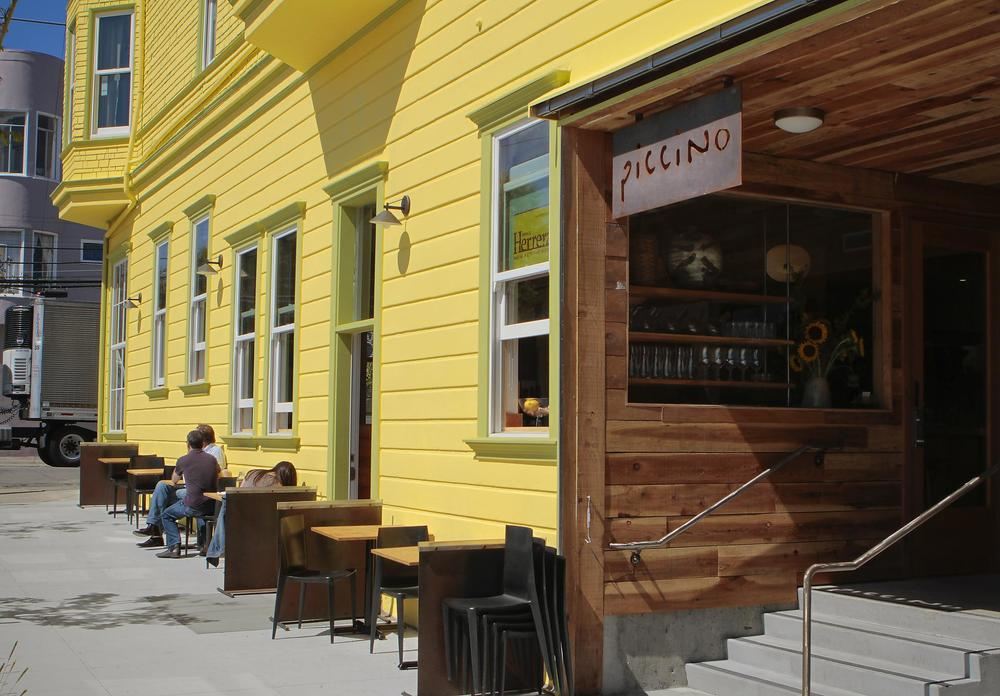 Piccino serves up fine Italian food in a bright, yellow Victorian house.