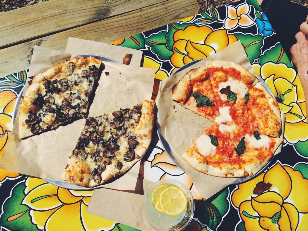 All Good Pizza whips up brick-oven pizza and paninis from scratch, using locally sourced organic produce.