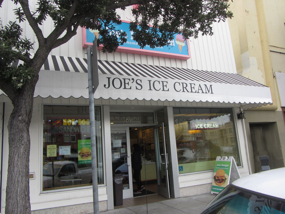 Joe's Ice Cream on Geary has been a favorite with Central Richmond families since 1959, and still serves burgers and root beer floats on its old-fashioned lunch counter.