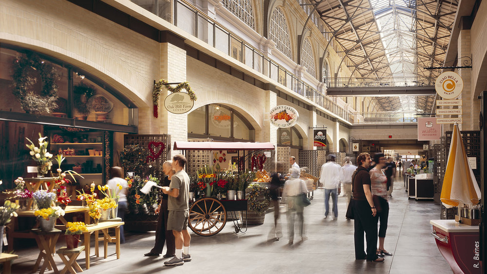 The Ferry Building Marketplace is a restored 1898 space filled with local vendors selling everything from fresh produce to cheese, coffee and bread.