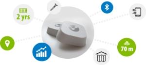 iBeacons gaan 2-4 jaar mee op een batterij en hebben een bereik van maximaal 200 meter. Ze zijn niet groter dan 5*5 cm en kunnen geleverd worden in alle kleuren met of zonder bedrijfs logo