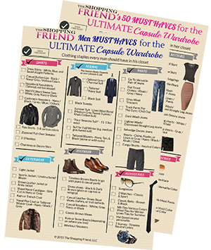 Get the wardrobe checklists that our personal stylists use in closet consultations and personal shopping sessions