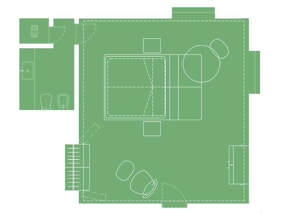 Island Guest Room-plan