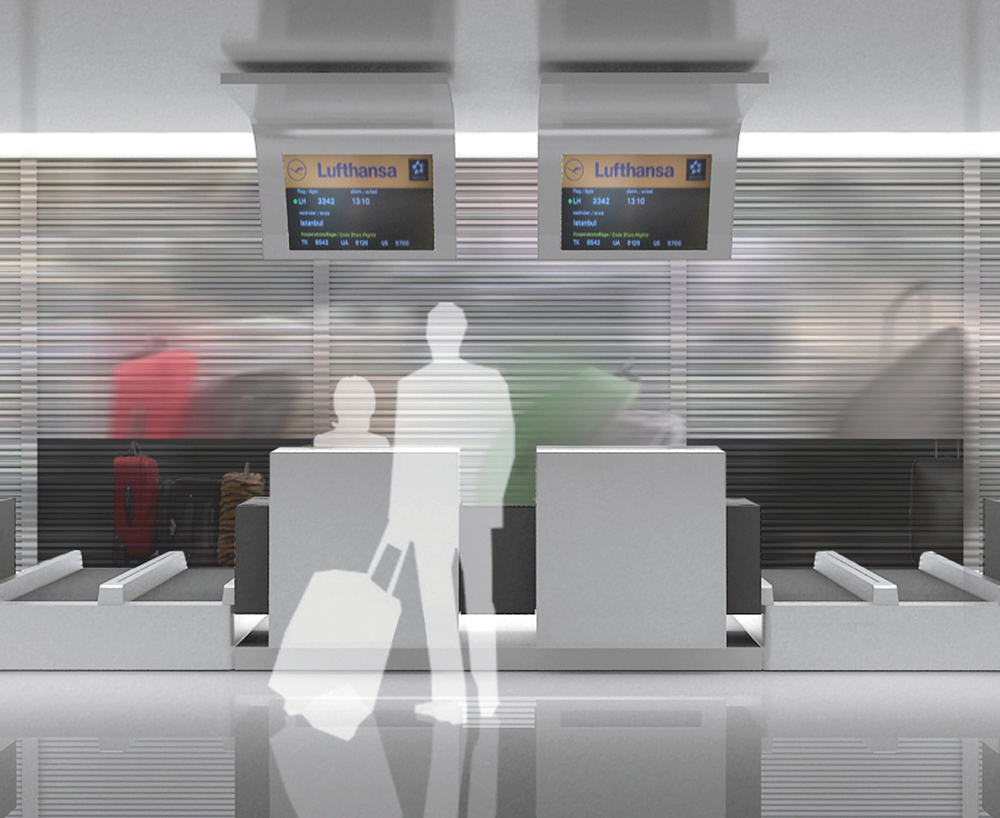 Render of check-in counters