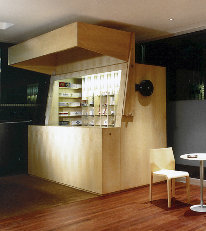 tobacco kiosk- flip-top box