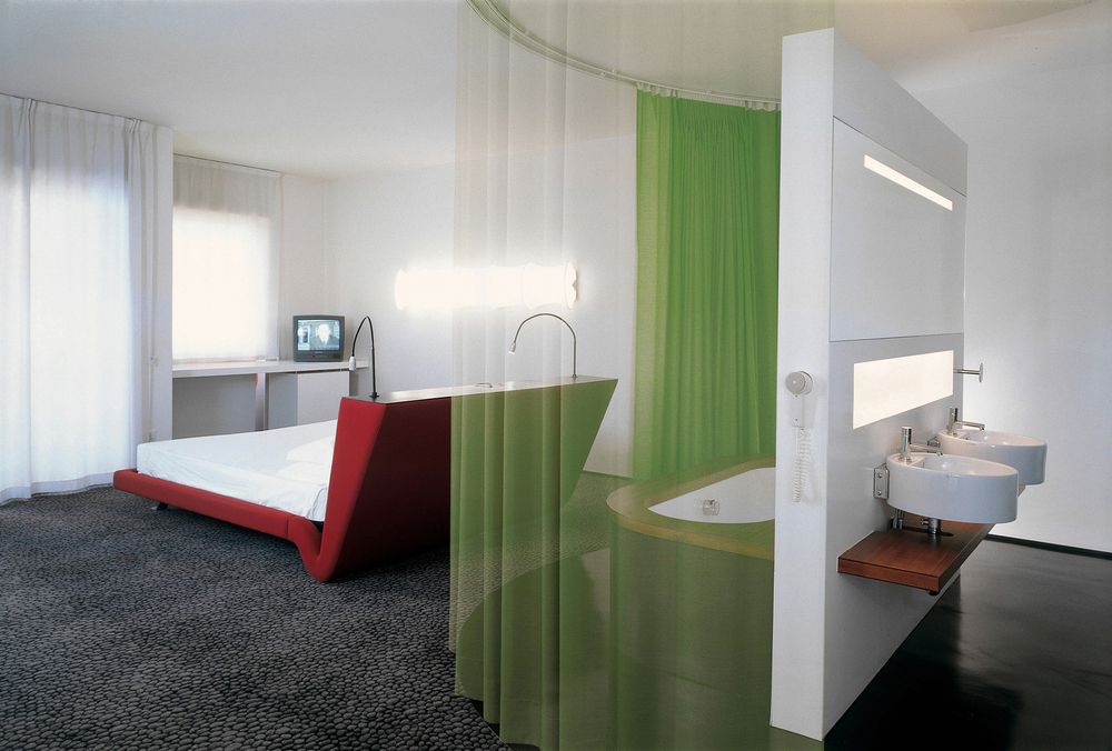 junior suite with open bathroom