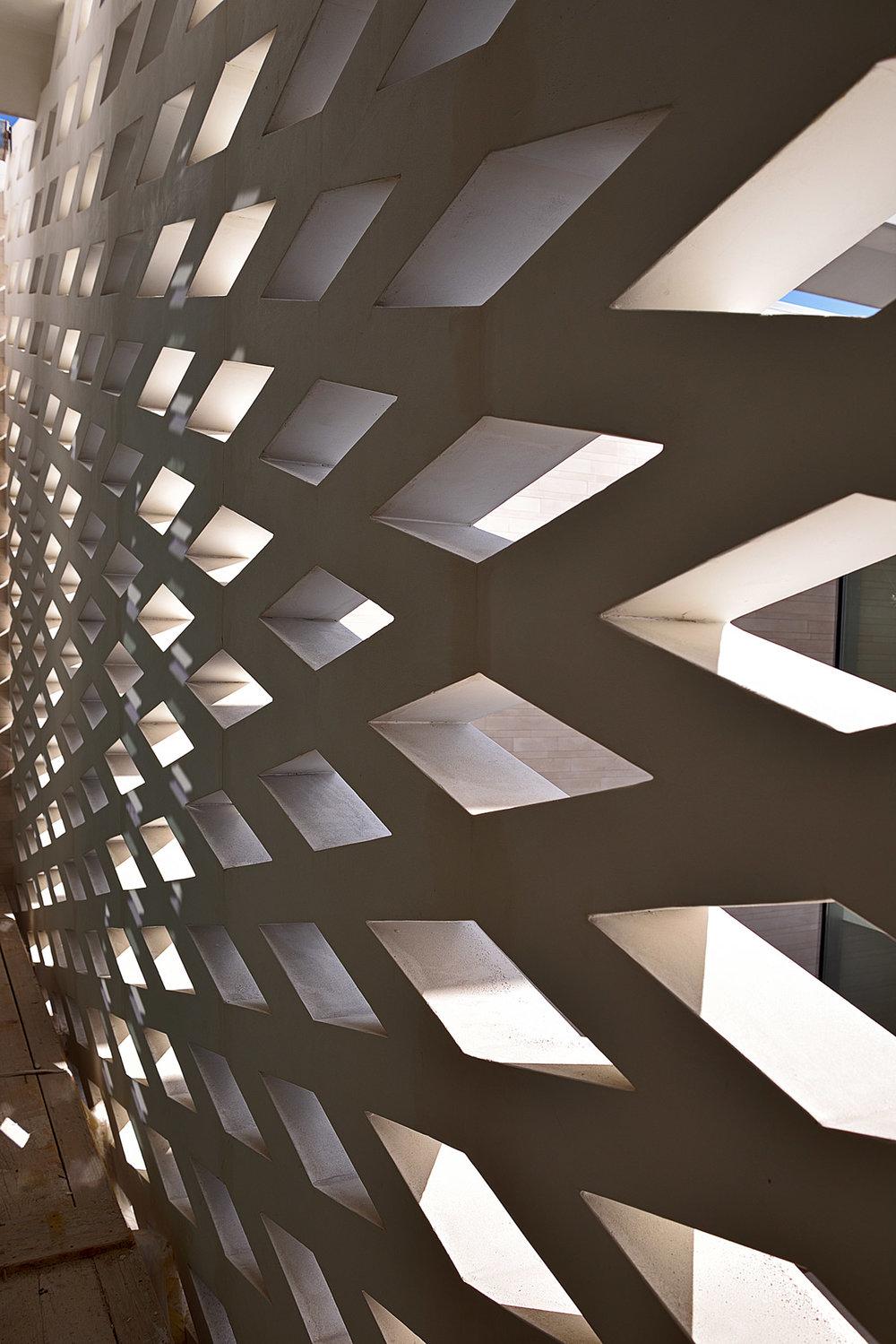 Building site- interior trellis facade