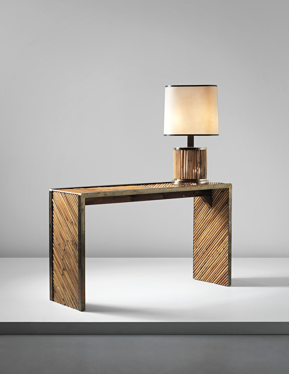 Gabriella Crespi Console & Light, c.1970, Phillips London