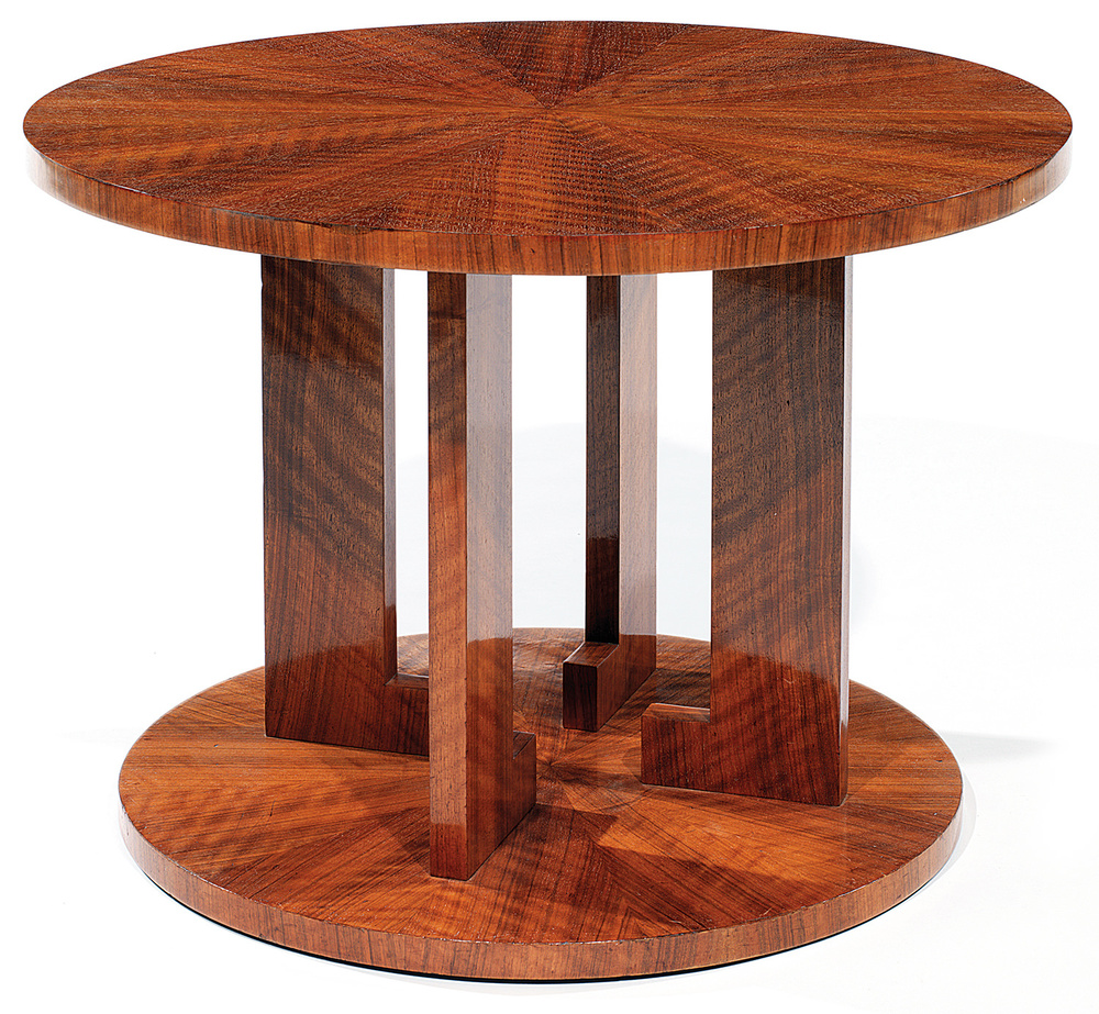 Jules Leleu (1883-1961) A Walnut Coffee Table, c.1930, Tajan Paris