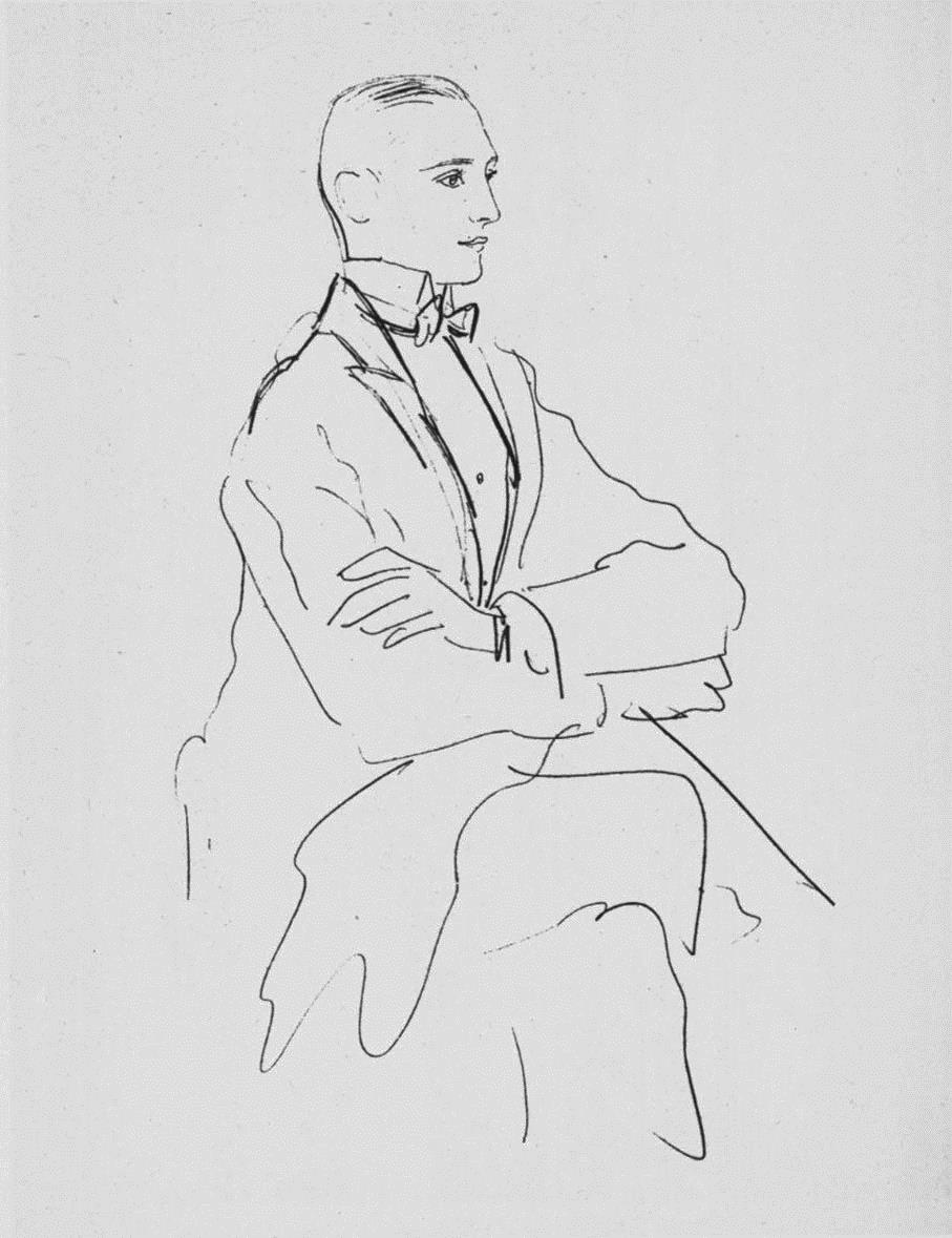 Boris Kochno, Paris, 1921 Pencil on paper 32 x 22cm
