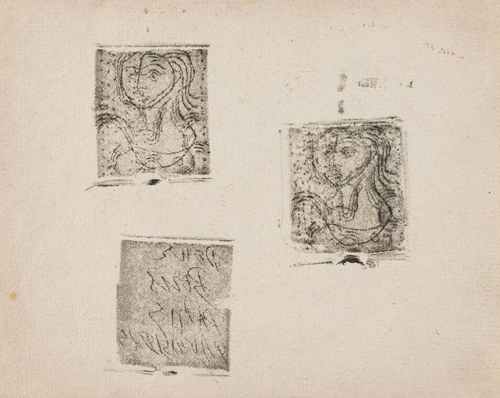 Pablo Picasso  Buste de femme (and dedication plate)   Etching, 1925 12 x 15cm