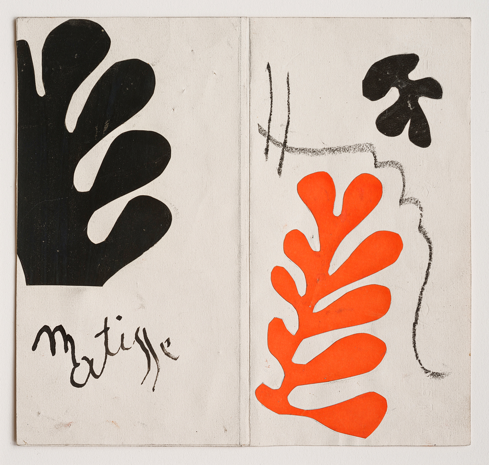 Henri Matisse (1869 - 1954)     Maquette for the 1954 Berggruen catalogue 'Henri Matisse: Lithographies Rares'    Gouache on paper, cut and pasted, 1954      Exhibited   Patrice Deparpe, 'Matisse. La couleur découpée. Une donation révélation', Musée Matisse Le Cateau-Cambrésis, Le Cateau-Cambrésis, 9 March - 9 June 2013, cover of the exhibition catalogue.  'Henri Matisse: The Cut-Outs', Tate Modern, London, 17 April- 7 September 2014, illustrated p 191.