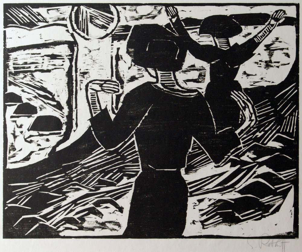 Karl Schmidt-Rottluff (1894-1976)      Die Sonne, 1914     Woodcut signed in pencil, from the edition of 75.