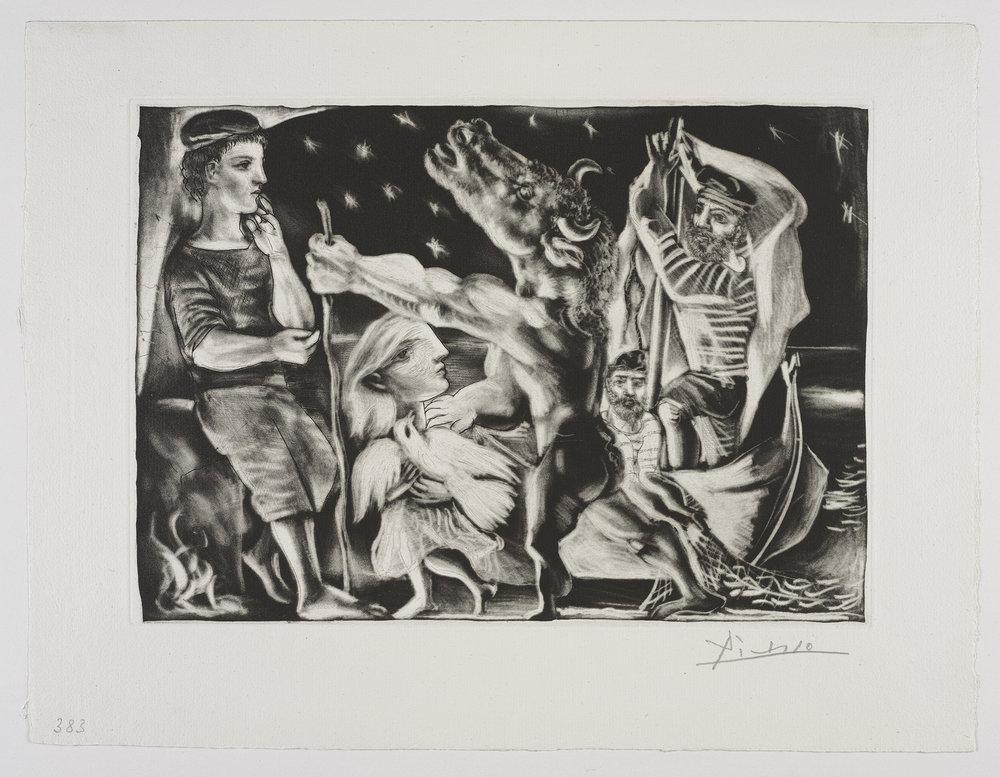 Pablo Picasso's  La Minotauromachie . Courtesy of Frederick Mulder.