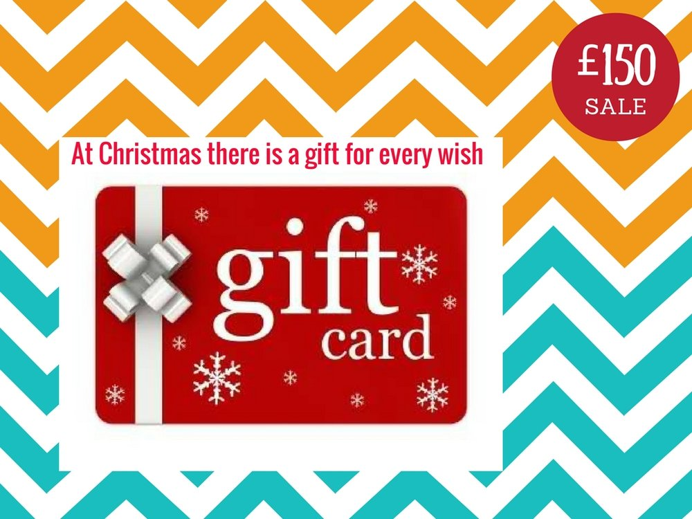 GET A ONLINE GIFT CARD ! WE WILL SEND BY  EMAIL ON REQUEST.