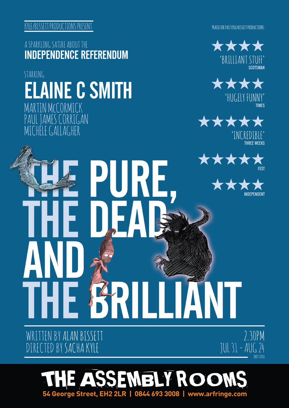 The Pure, The Dead and The Brilliant (design)