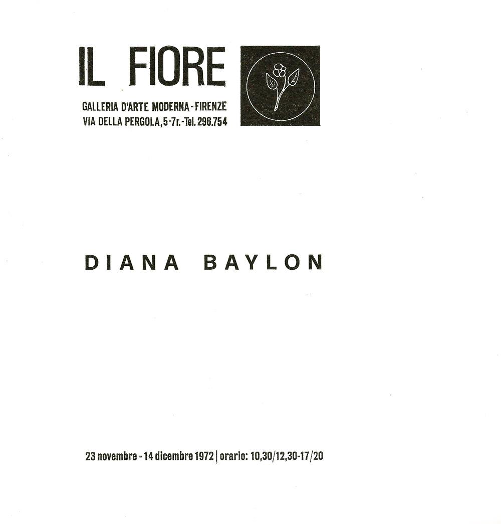 Personale alla galleria Il Fiore , sonorizzazione di Teresa Rampazzi del gruppo NPS-Padova, catalogo a cura di Lara-Vinca Masini