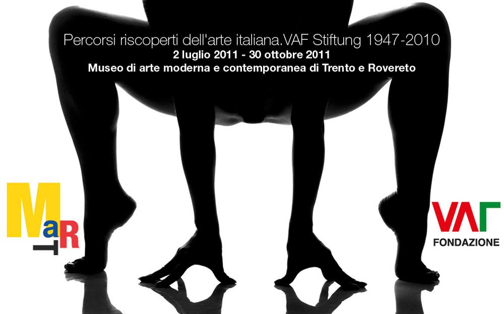 Percorsi riscoperti dell'arte italiana nella VAF-Stiftung 1947-2010  MART - Museo di arte moderna e contemporanea di Trento e Rovereto a cura diGabriella Belli, Daniela Ferrari