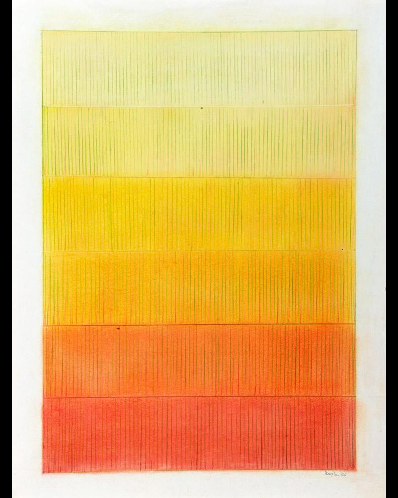Senza titolo, 1966 tecnica mista su carta, 64x47,5cm