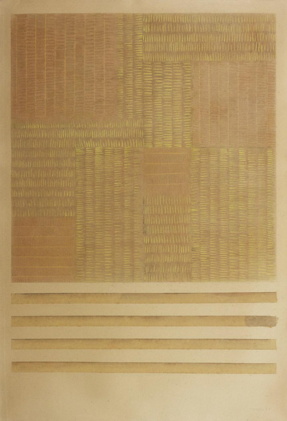 Senza titolo, 1975  gessetto su cartoncino, 100x70 cm Presso il Gabinetto dei Disegni e delle Stampe della Galleria degli Uffizi, cod. 123633