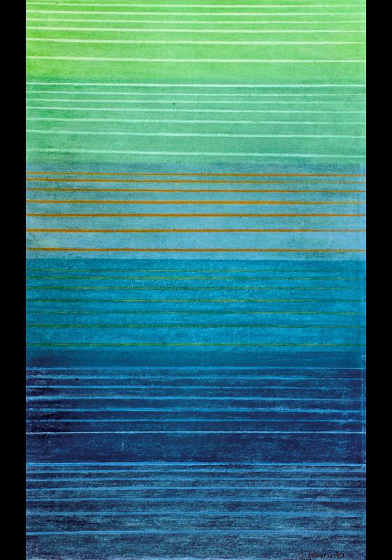 Senza titolo, 1963 pastello a olio, 40,5x24,5 cm
