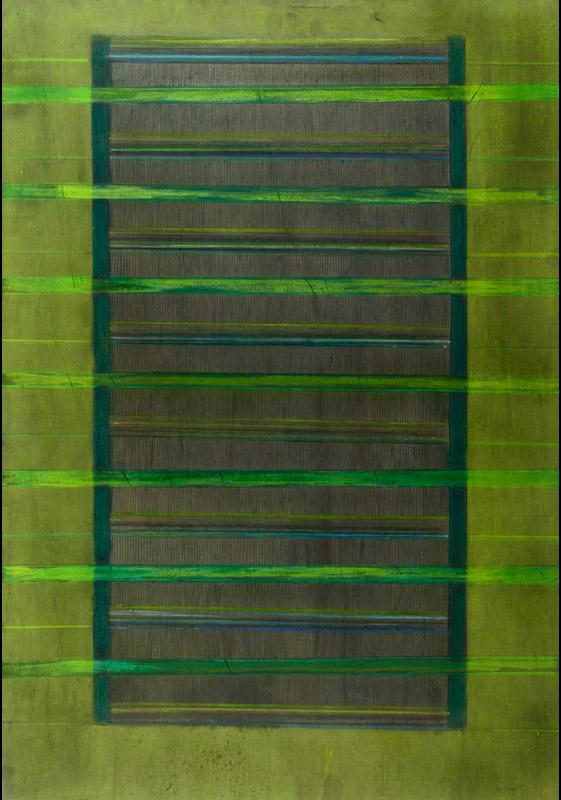 Senza titolo, 1968 tecnica mista su cartoncino, 95x67 cm