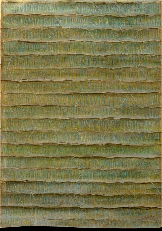 Senza titolo, 1984  arazzo, gessetto a olio su carta, 140x100 cm
