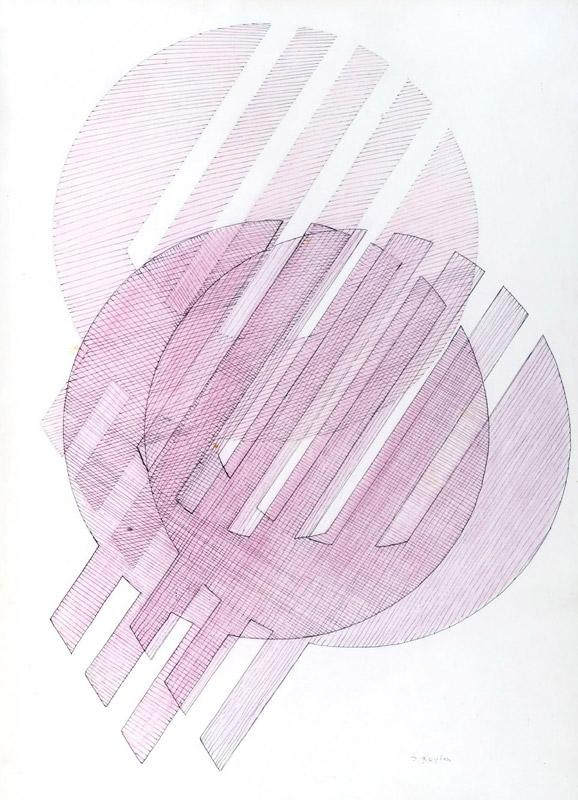 Bozzetto per scultura, s.d. inchiostro e gessetto su carta, 70x50 cm