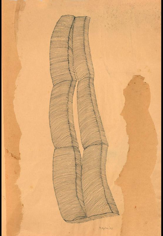 Senza titolo, 1972 china e collage su carta, 51,5x35 cm