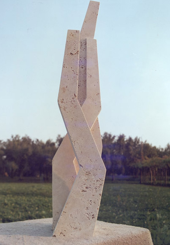 Segno, 1977  travertino romano, 109,5x25x21 cm