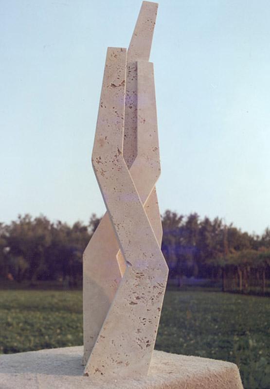 Segno, 1977 travertino romano, 109,5x25x21 cm