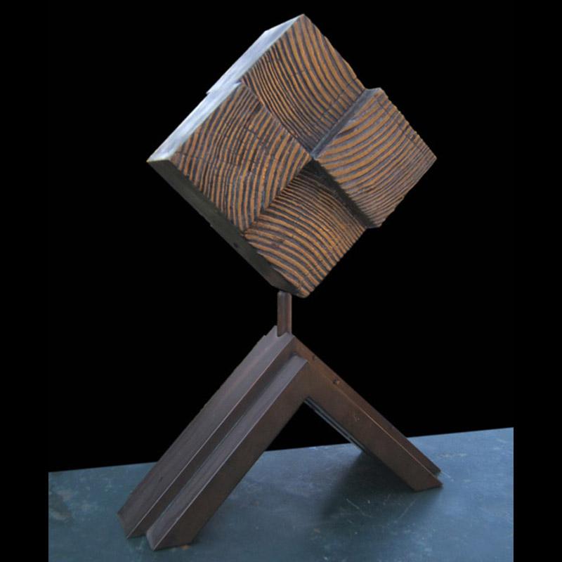 Albero totem sezione,1977 bronzo, 27x17x10 cm