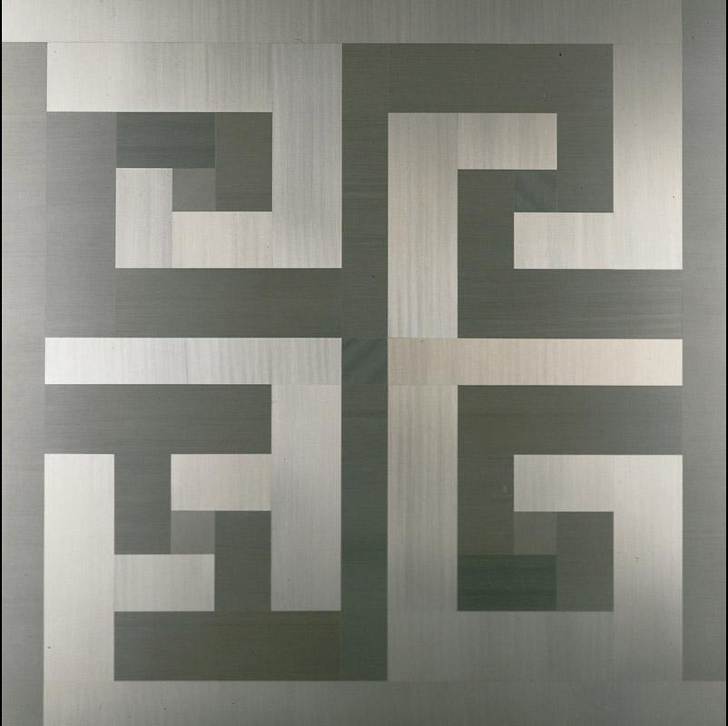 Mutevole, 1975  alluminio anodizzato, 78x78 cm
