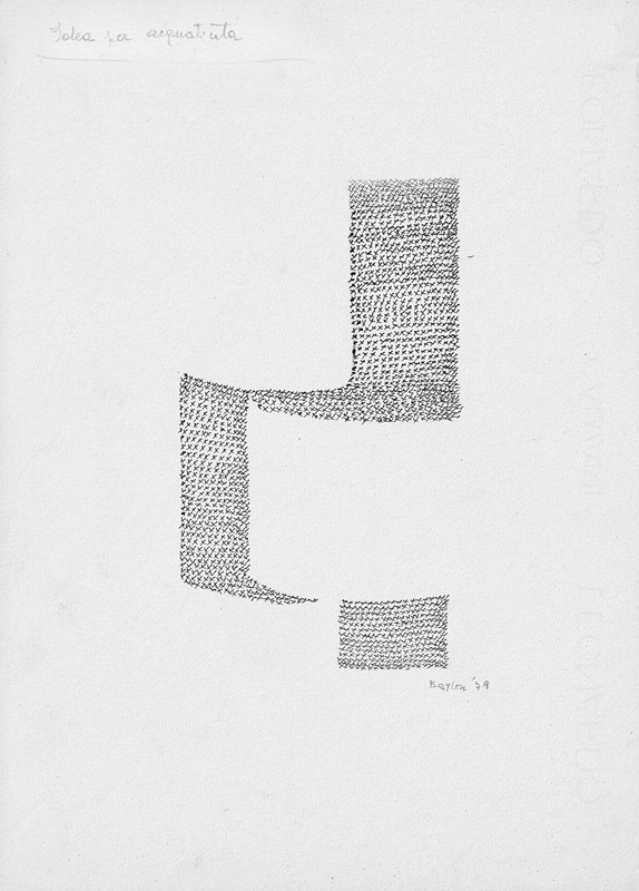 Idea per acquatinta, 1979  china su carta, 33x24 cm