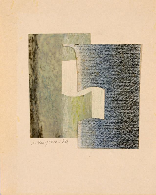 Incastro, 1980 collage, 21,5x17 cm