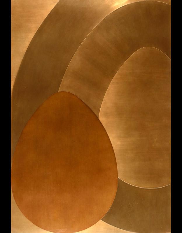 Senza titolo, 1972 alluminio su legno, 99,5x69 cm