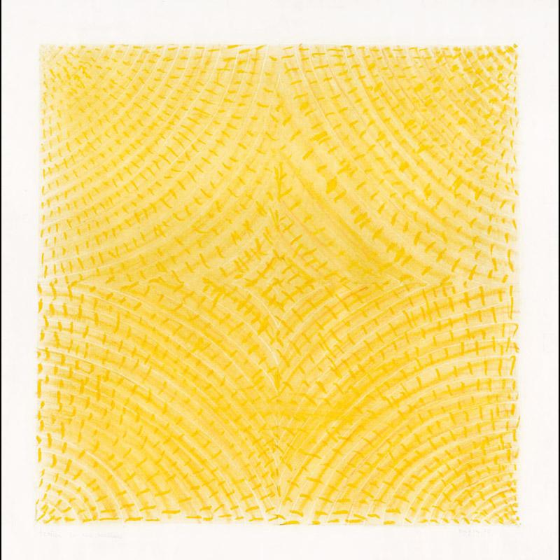 Texture per una scultura, 1975 tecnica mista su carta, 50x48 cm